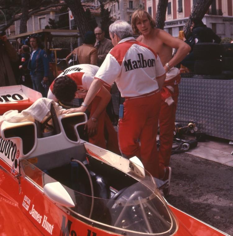 james hunt teddy mayer #Monaco 1977 #F1
